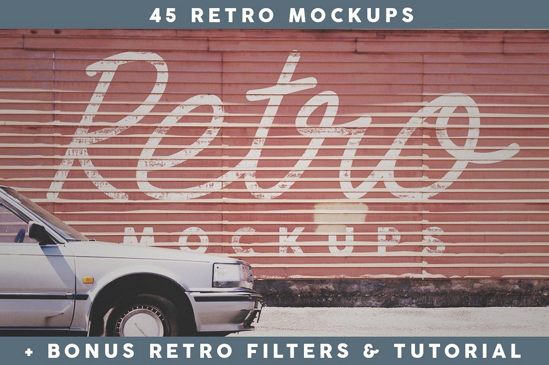45-Retro-Mockups 40+ Stunning Vintage Mockup Packs & Graphics design tips