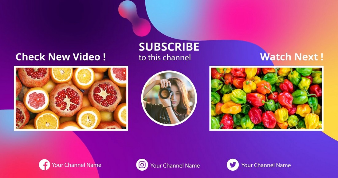 4K YouTube End Screen After Effects Templates
