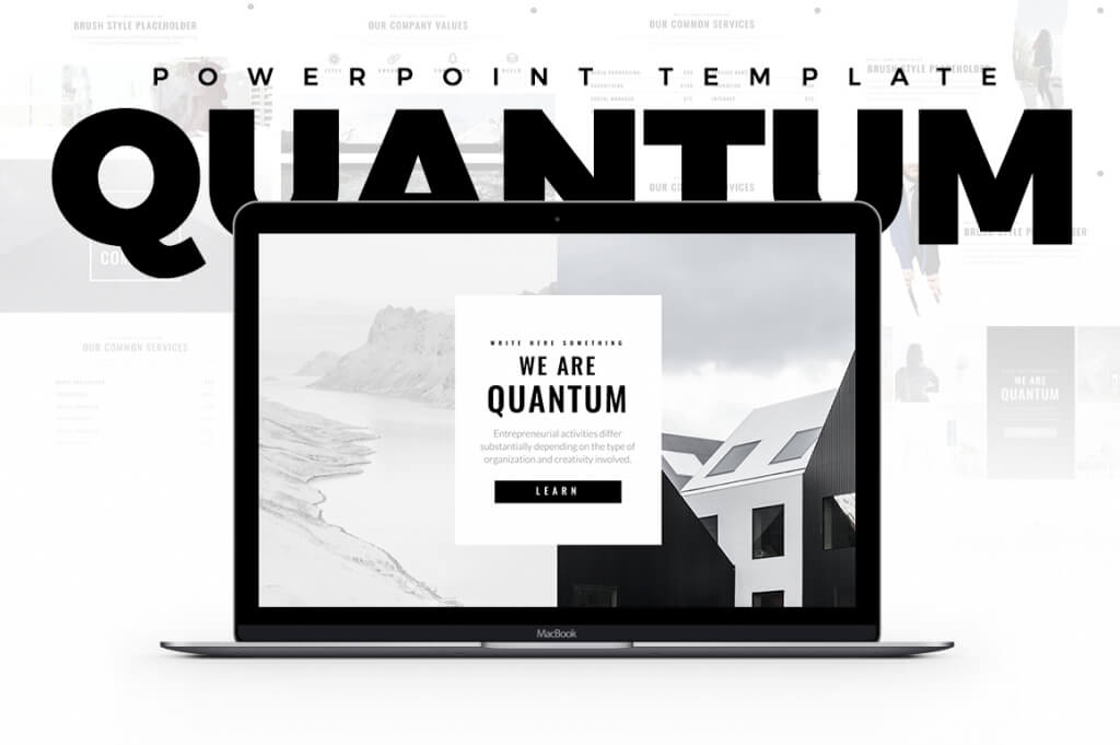 25 best minimal powerpoint templates 2018 design shack simplicity is the ultimate sophistication and quantum minimal powerpoint template holds true to that quote it comes with 60 plus different slides toneelgroepblik Choice Image