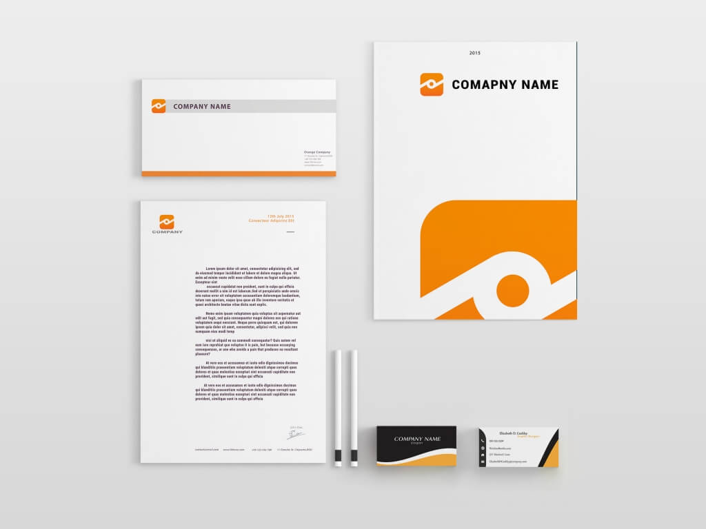 80 modern stationery templates freedom of creation orange brand identity friedricerecipe Images