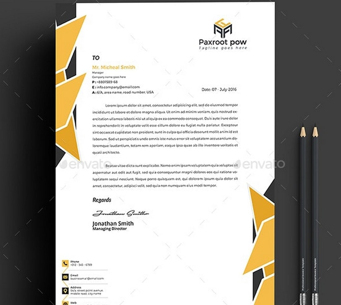 5-Color Letterhead Template (Word)