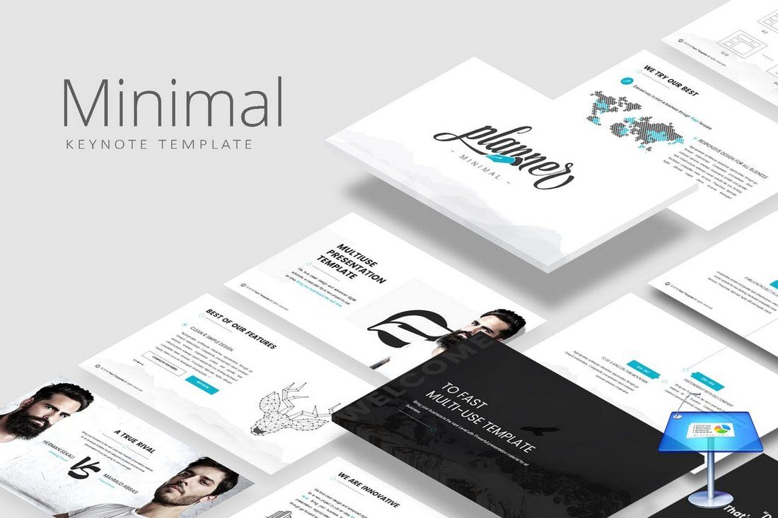 5-Color-Minimal-Keynote-Template 30+ Best Minimal & Creative Keynote Templates design tips