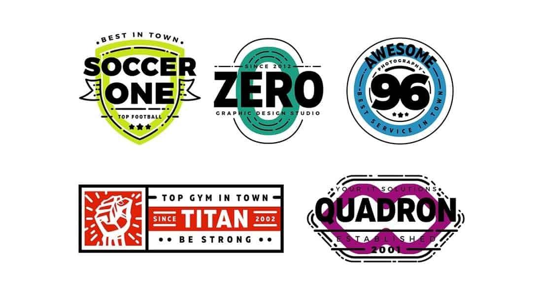 5 Customizable Retro Logos & Badges