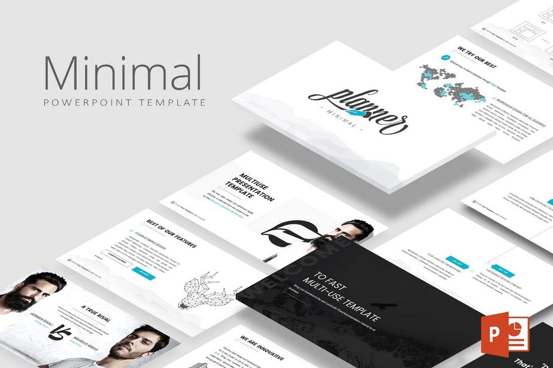 25 Best Minimal Powerpoint Templates 2018 Design Shack