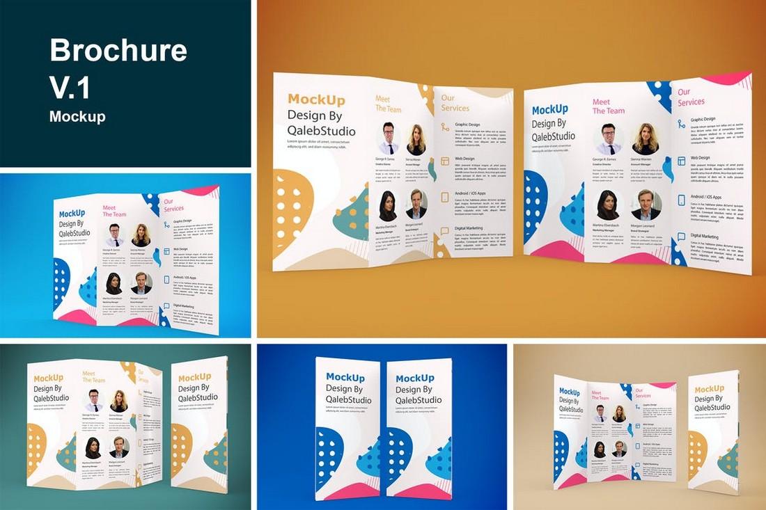 5 Tri-Fold Brochure Mockup Templates