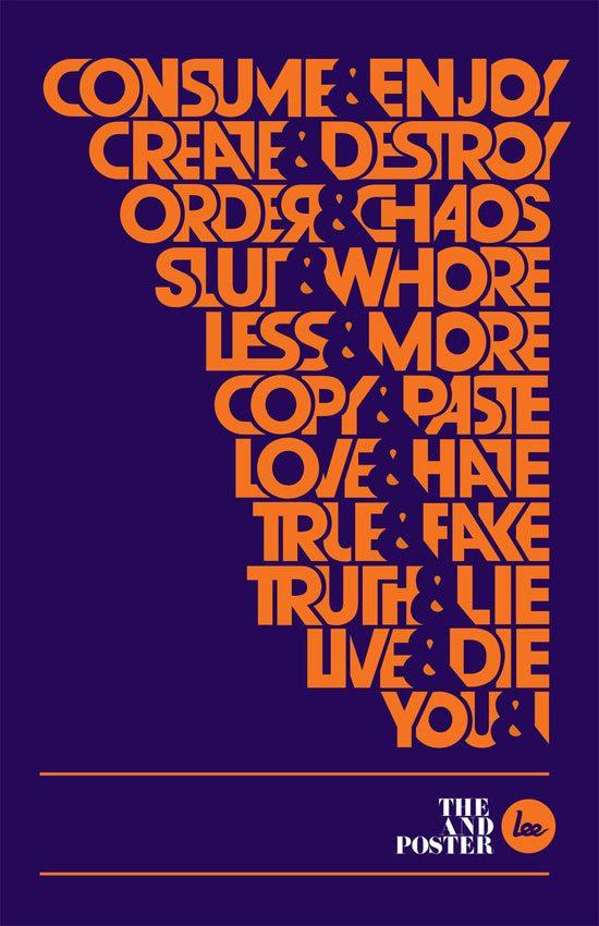typographic posters 100 stunning exles design shack