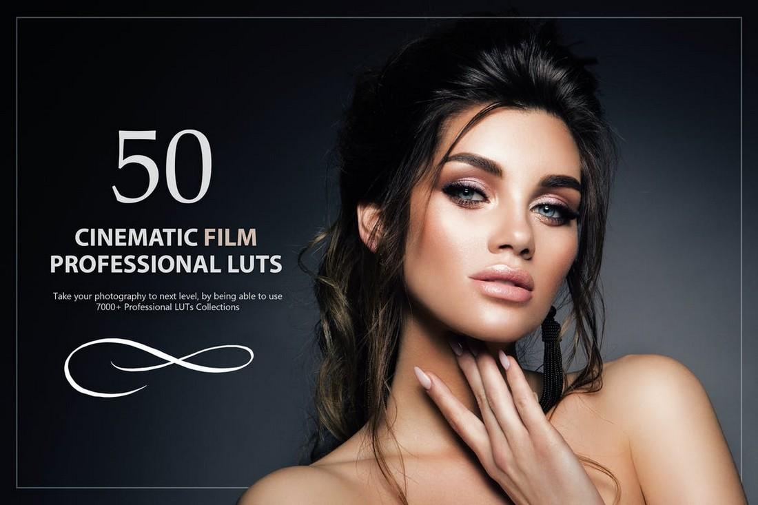 50 Cinematic Film LUTs Pack