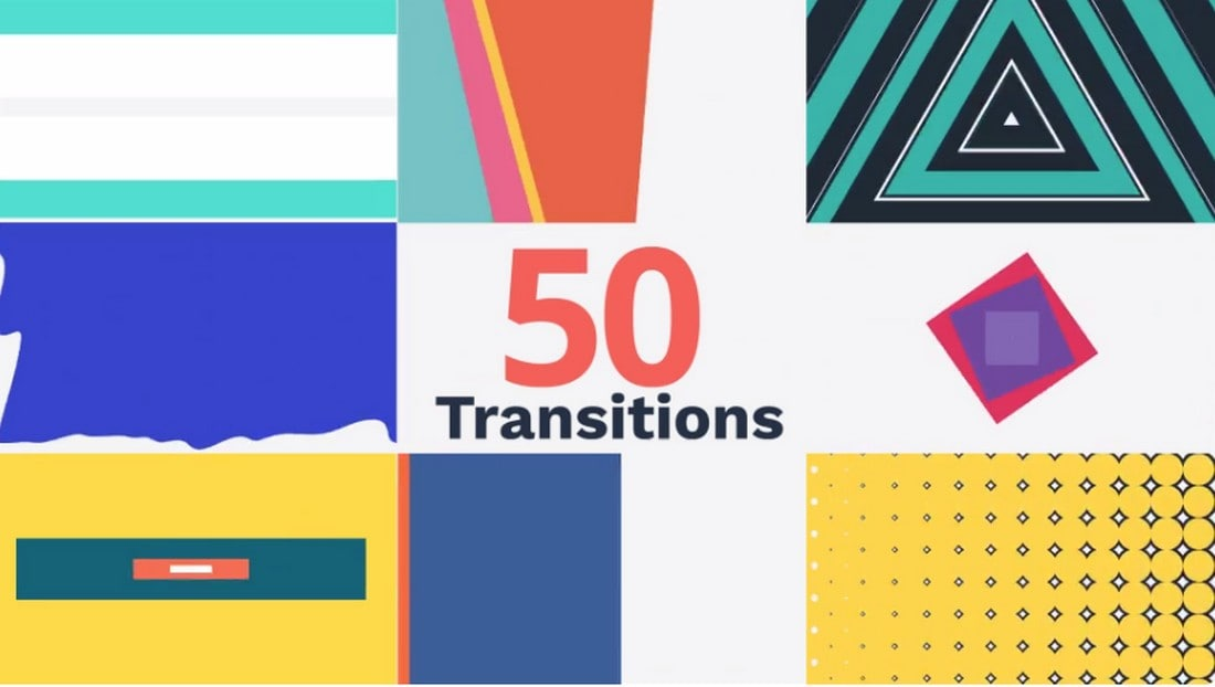 50-Creative-Transitions-for-After-Effects 20+ Best Video Transition Effects (For After Effects + Premiere Pro) design tips