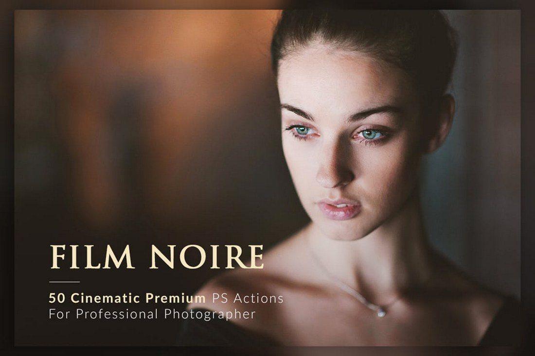 50-Film-Noire-PS-Actions-Bundle 20+ Best Portrait Photoshop Actions design tips