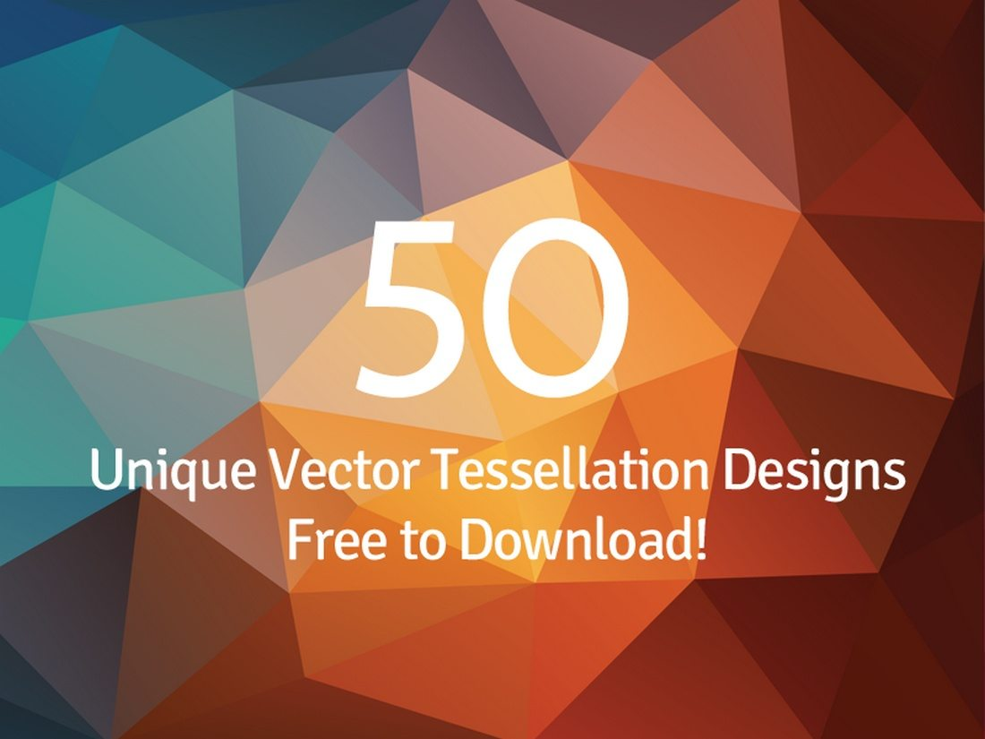 50-Free-Tessellated-Designs 20+ Beautiful Geometric & Polygon Background Textures design tips