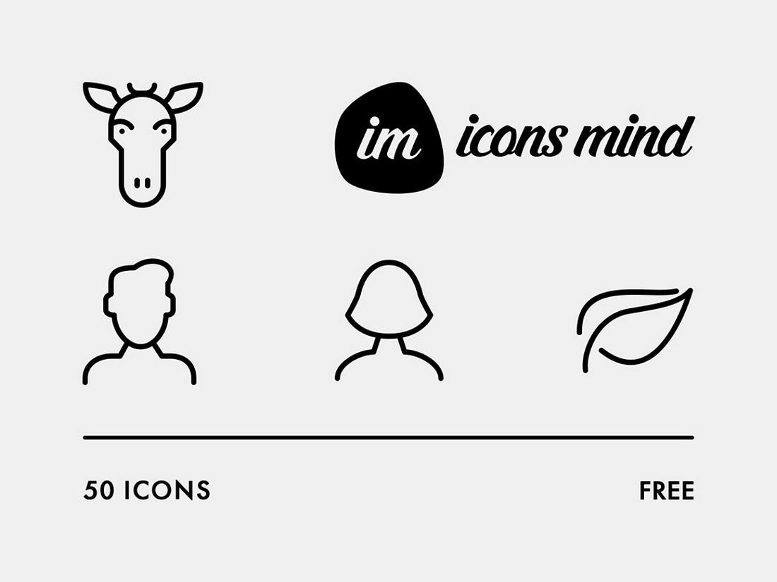 50 Free iOS & Android Adobe XD Icon Set