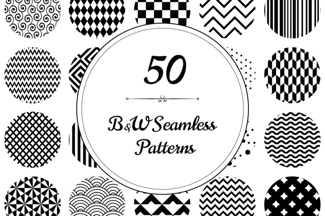50-Geometric-BW-Seamless-Patterns 50+ Best Free Photoshop Patterns 2021 design tips