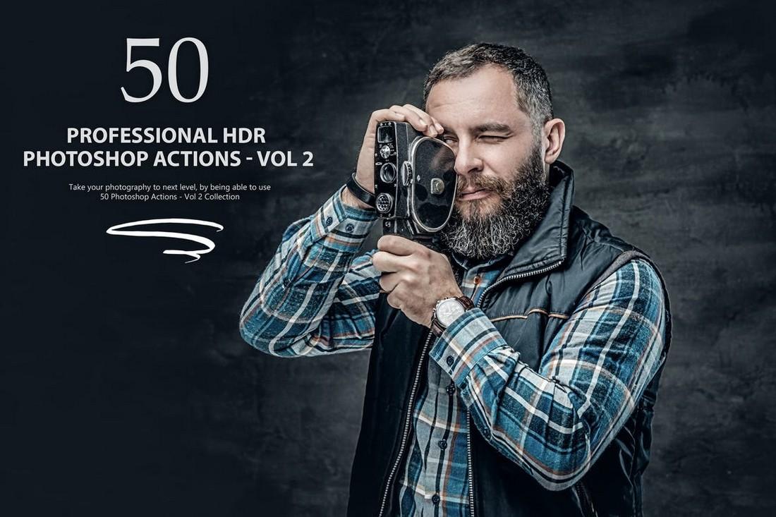 50 HDR Photoshop Actions Bundle