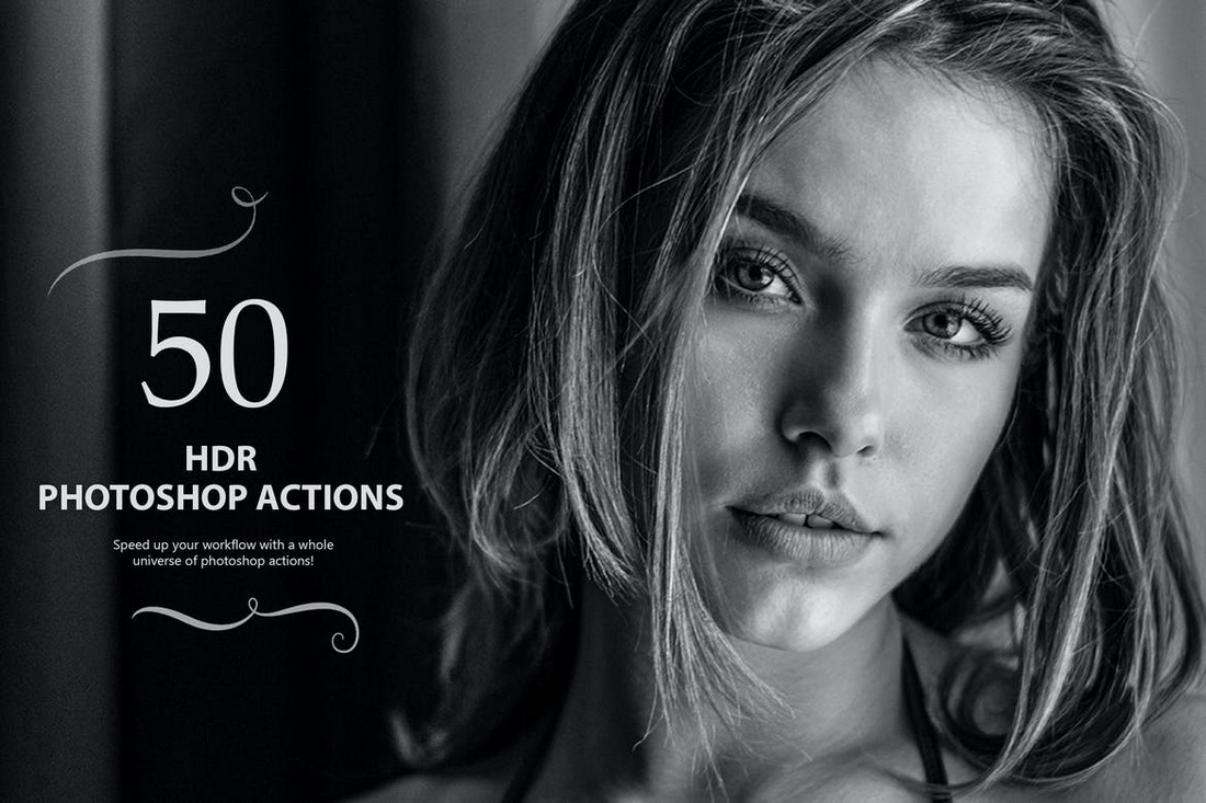 50 HDR Photoshop Actions - Vol 1