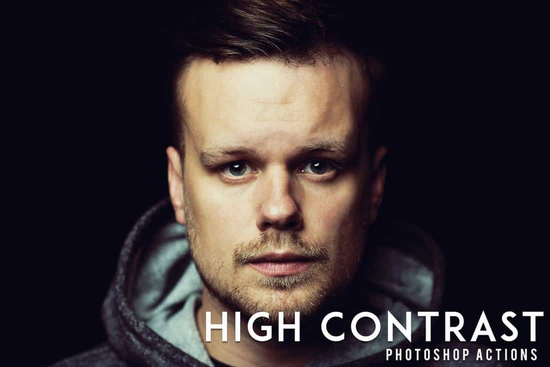 50 High Contrast Portrait Photoshop Actions