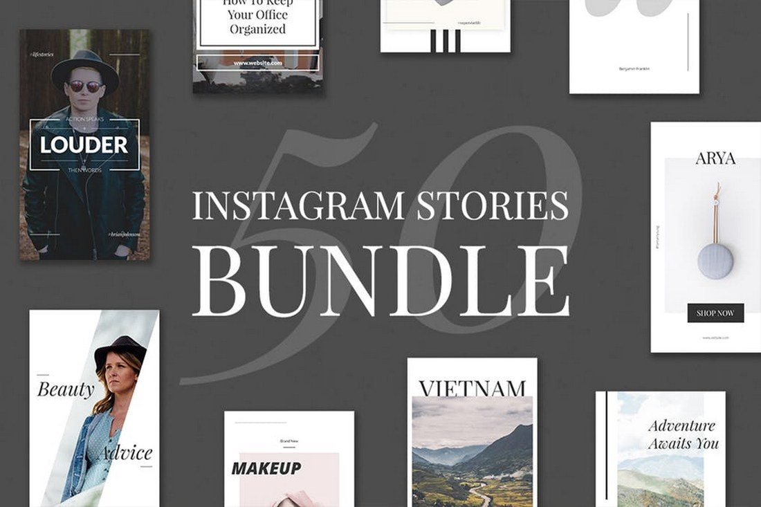 50-Instagram-Stories-Bundle 30+ Best Instagram Templates & Banners design tips