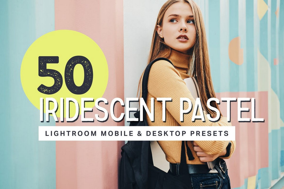 50 Iridescent Pastel Lightroom Presets