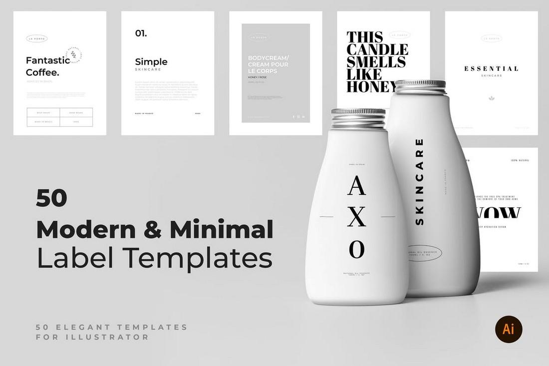 50 Modern & Minimal Label Templates