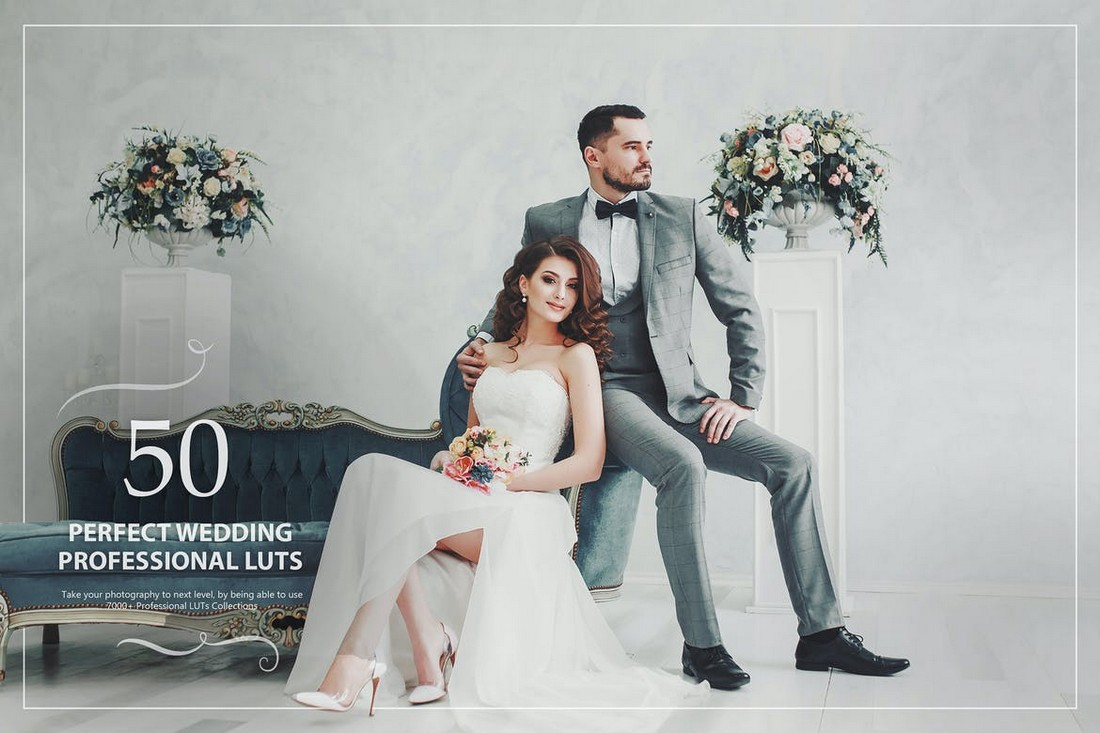 50 Perfect Wedding Lightroom LUTs Pack