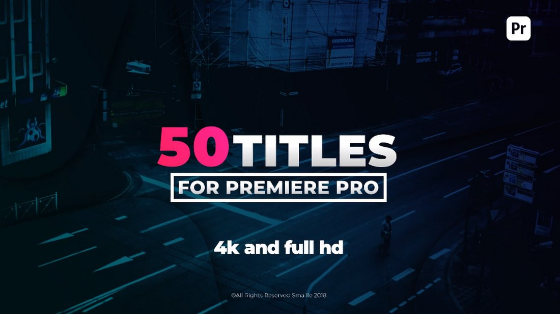 50 Stylish Premiere Pro Title Templates