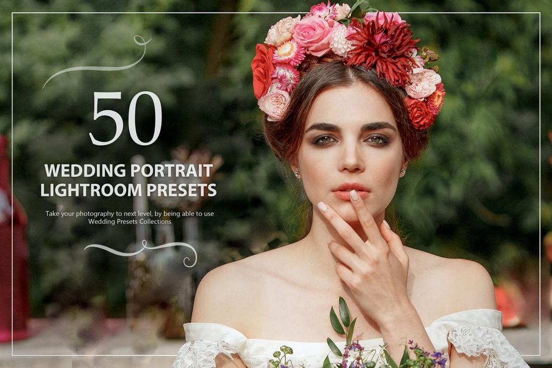 50 Wedding Portrait Lightroom Presets