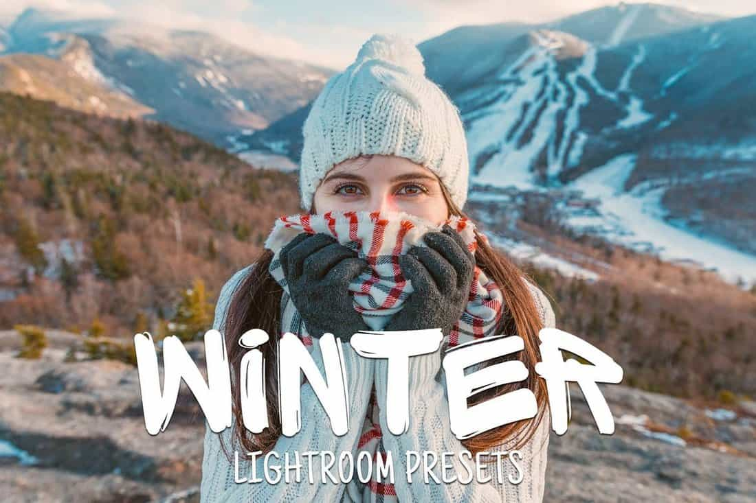 50 presets de invierno Lightroom