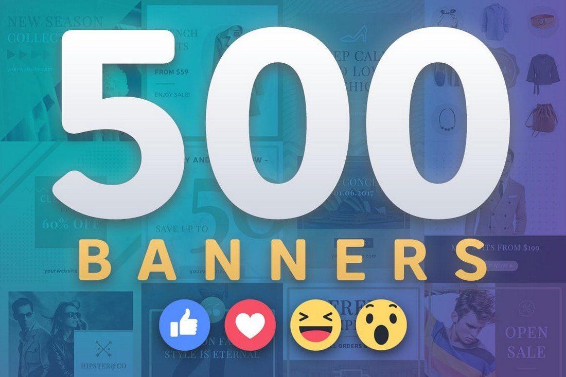 500-Facebook-Banners-1 20+ Best Social Media Kit Templates & Graphics design tips