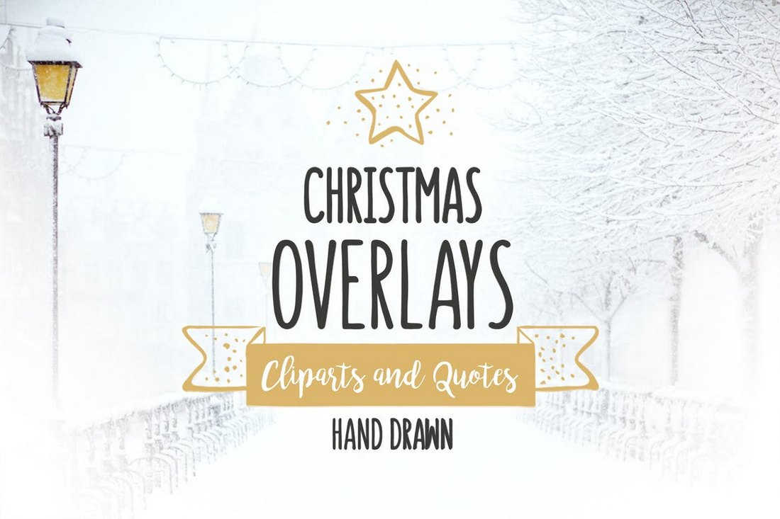 52 Christmas Overlays & Vector Set