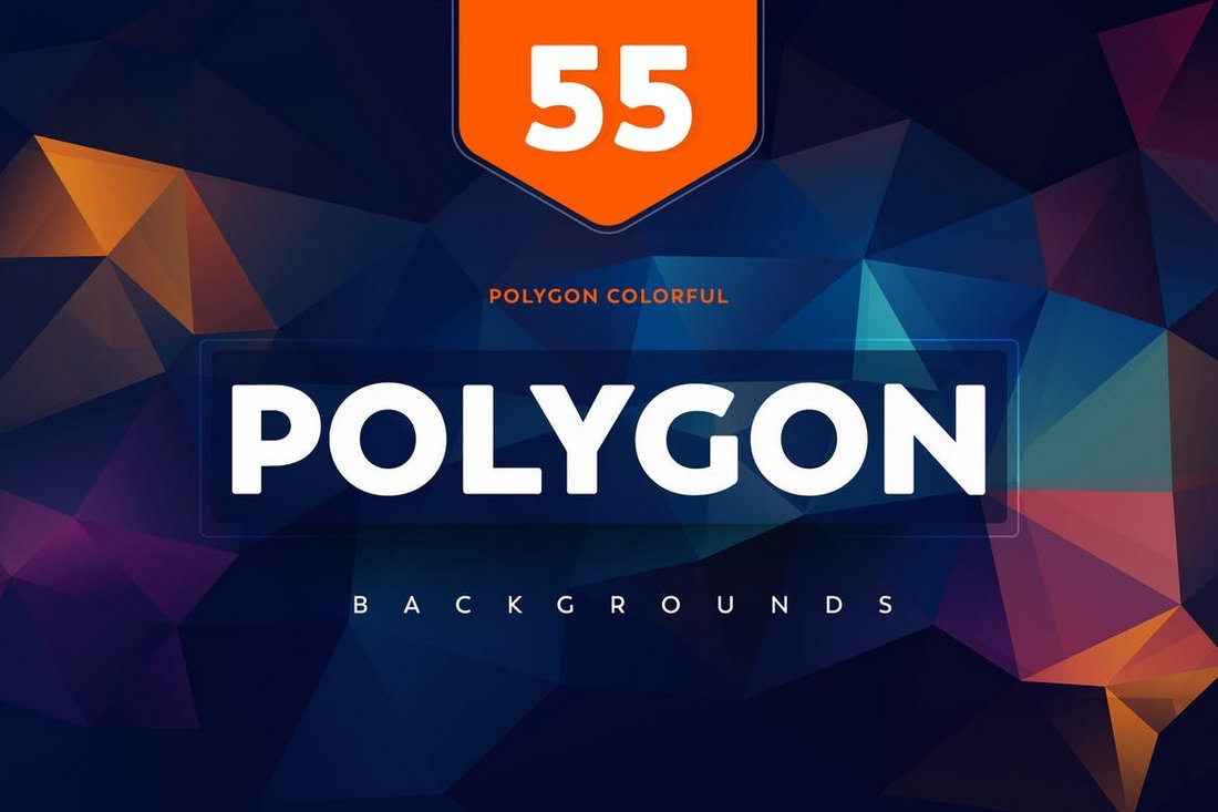55+ Colorful Polygon Backgrounds