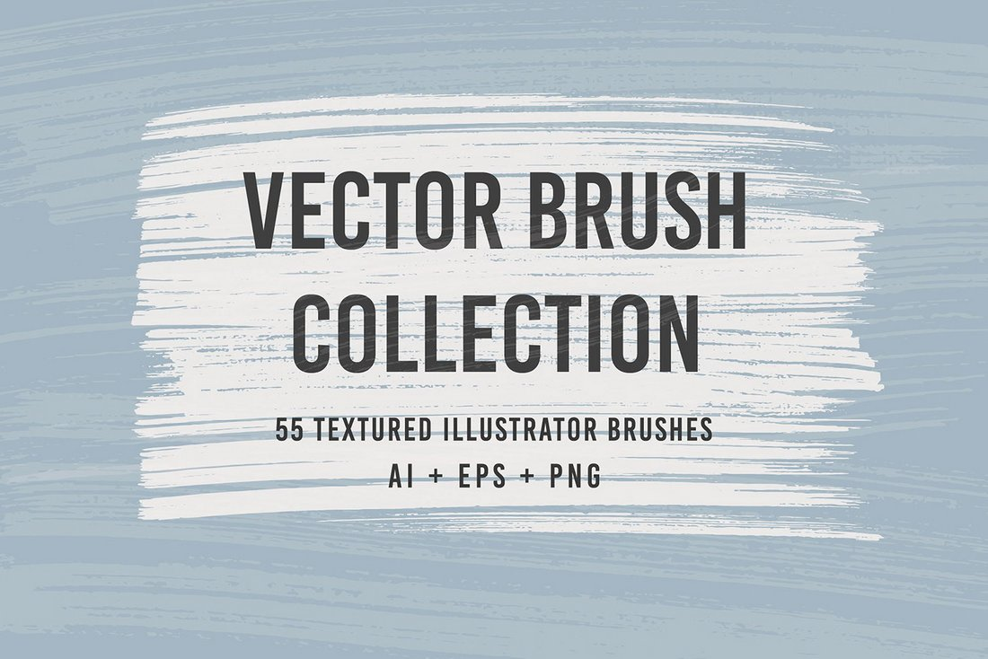 55 Free Illustrator Vector Brushes Collection
