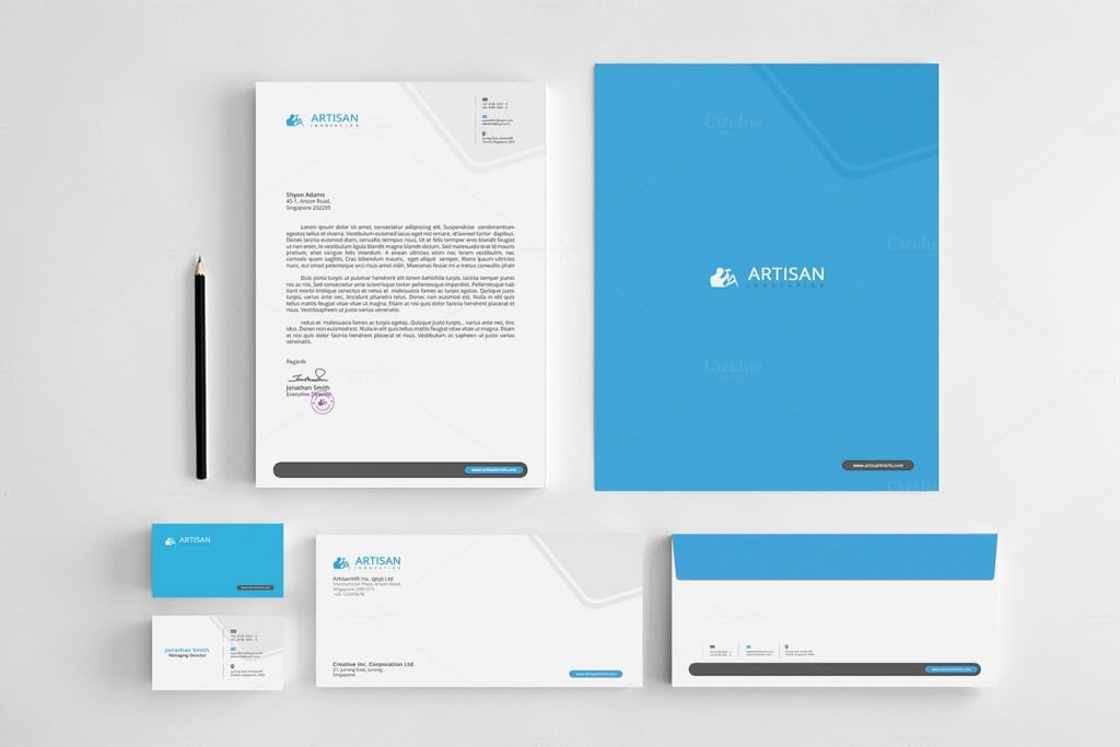 A Clean And Attractive Corporate Stationery For Any Personal Or Commercial Uses This Identity Set Will Help You In Your Business To Save Time All