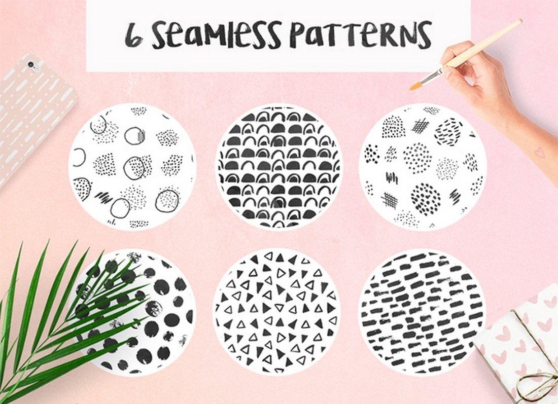 6 Creative Free Seamless Patterns