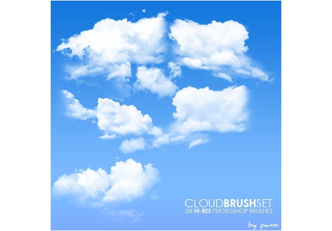 6 Free Cloud Photoshop Brushes