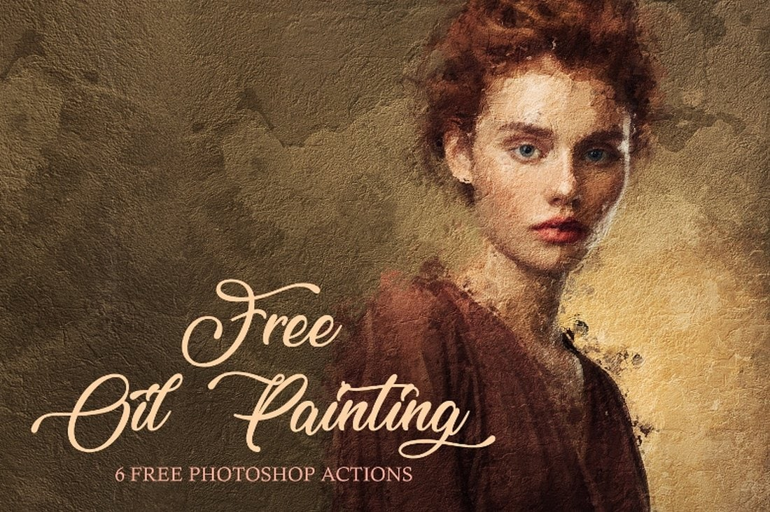 6 Free Photoshop Oil Painting Actions