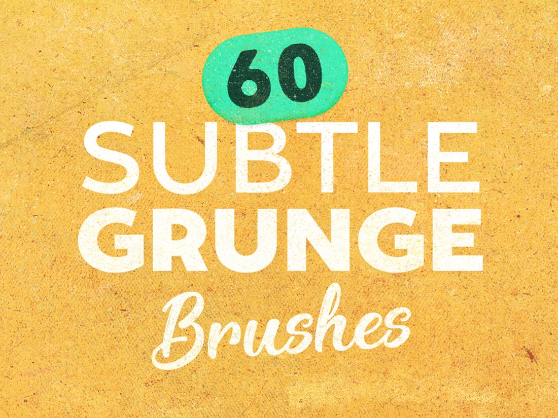 6 Free Subtle Grunge Photoshop Brushes