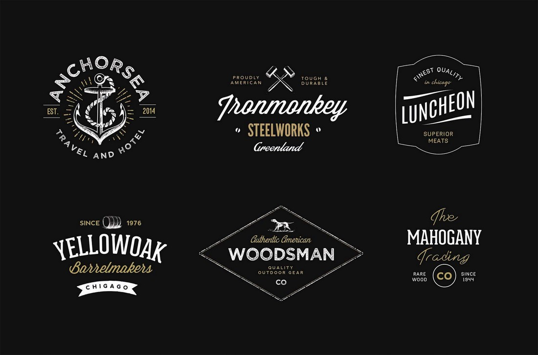 6 Free Vintage Badge Templates for T-Shirts