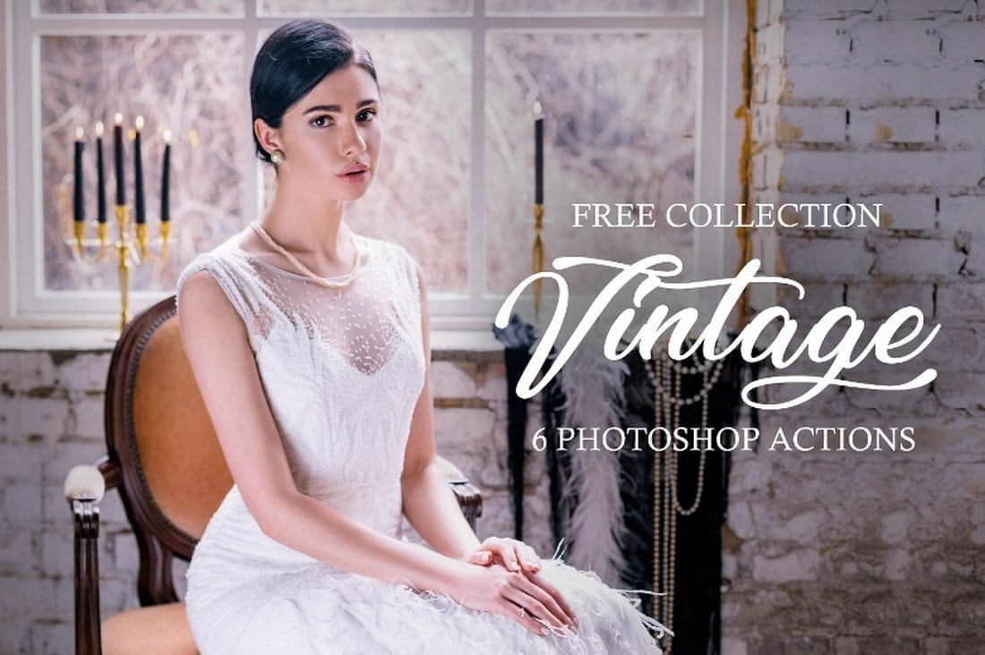 6 Free Vintage Wedding Photoshop Actions