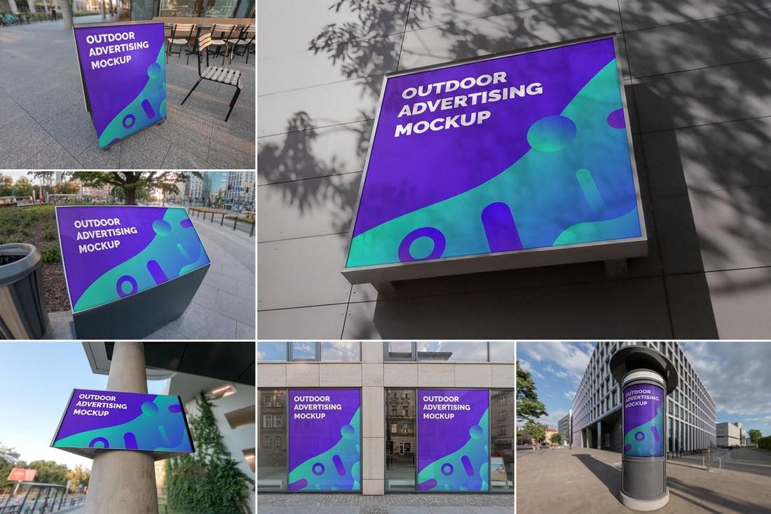 6 Outdoor Advertising Mockups