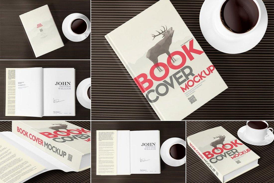 6 Stylish Book Cover Mockup Templates