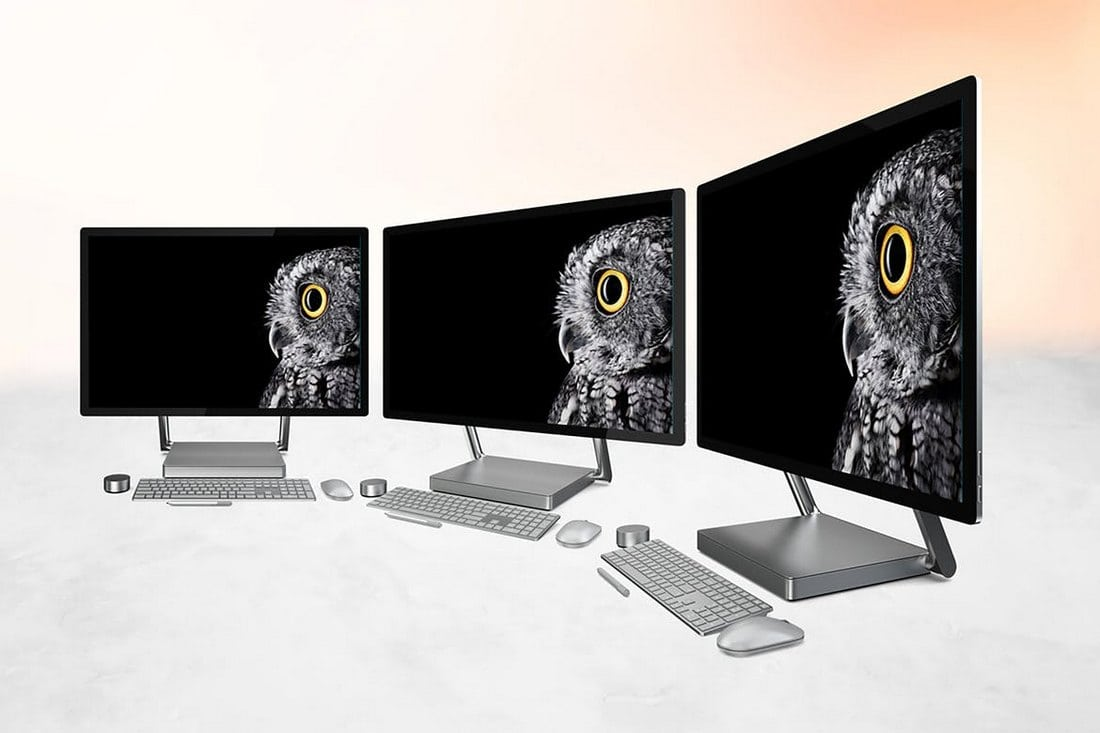 6 Surface Studio Mockups