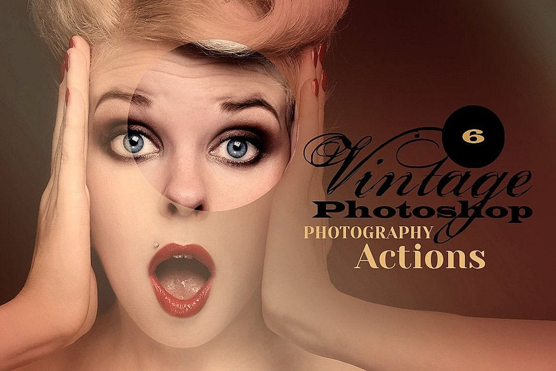6 Vintage Photoshop Actions
