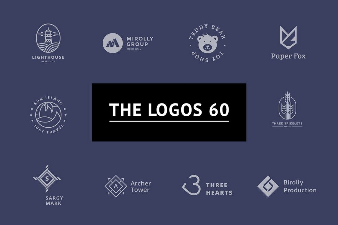 60 Minimal Logo Templates Bundle