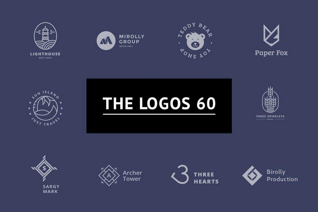 60 Minimalist PSD Logo Templates