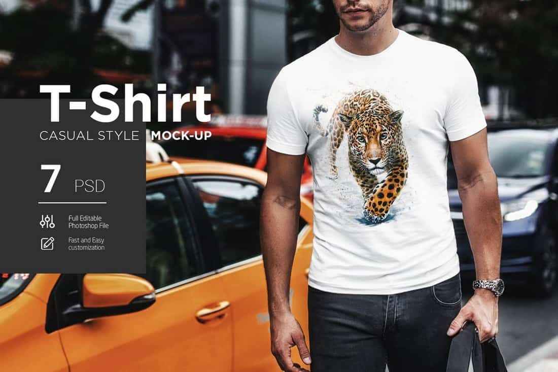 7 Casual T-Shirt Mockups