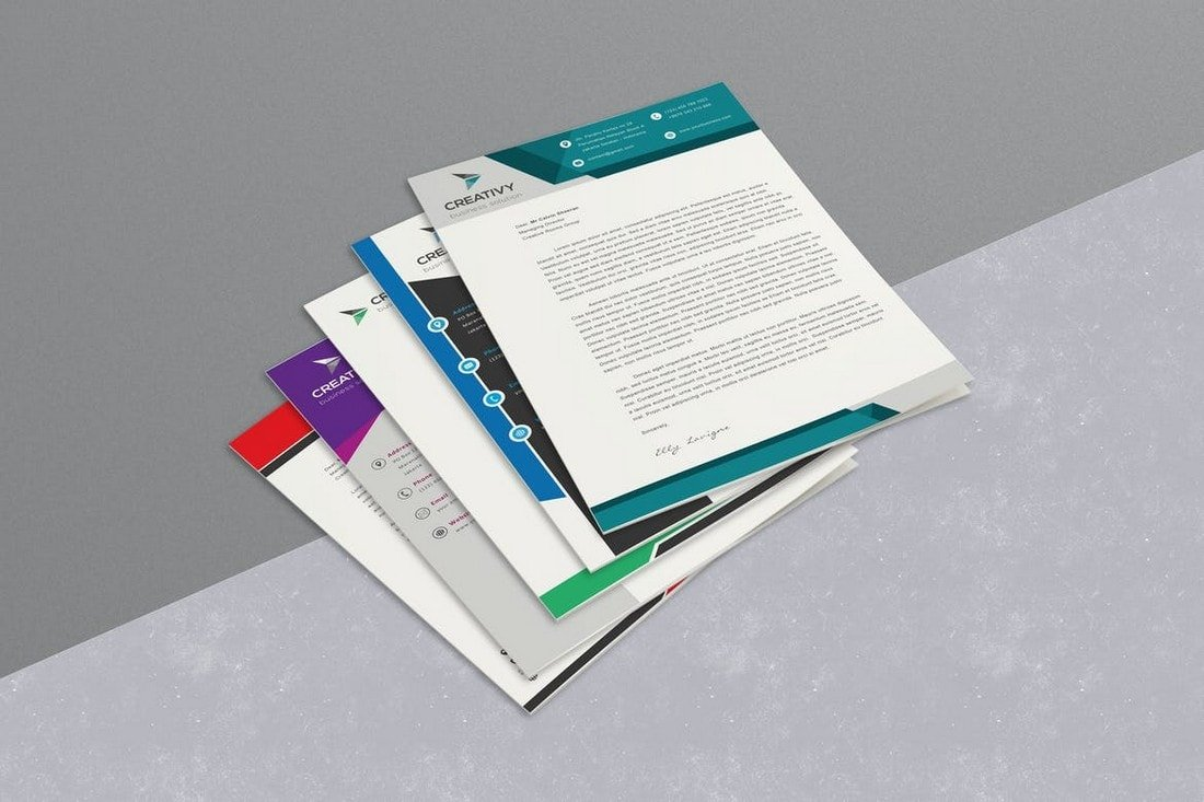 7 Corporate Word Letterhead Templates