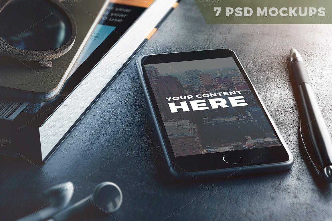 7-PSD-Mock-ups 100+ iPhone PSD & Vector Mockups design tips