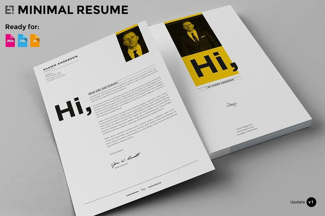 Amazing 1 Page Resume Format Free Download Tall 10 Envelope Template Shaped 15 Year Old Resume Sample 18th Invitation Templates Young 1and1 Templates Black2 Binder Spine Template The Best CV \u0026 Resume Templates: 50 Examples \u2013 Ok Huge