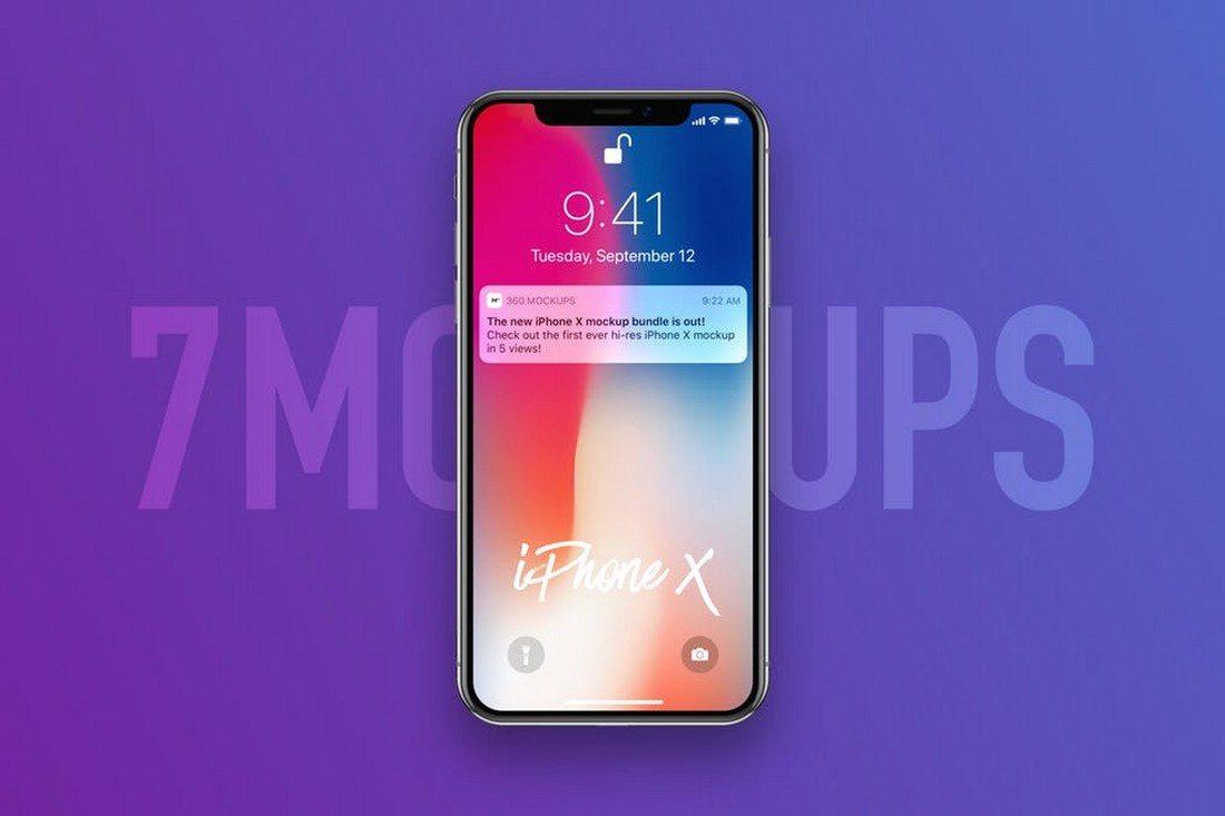 7-Popular-iPhone-X-Mockups 30+ Best iPhone X Mockups (PSD, AI & Sketch) design tips