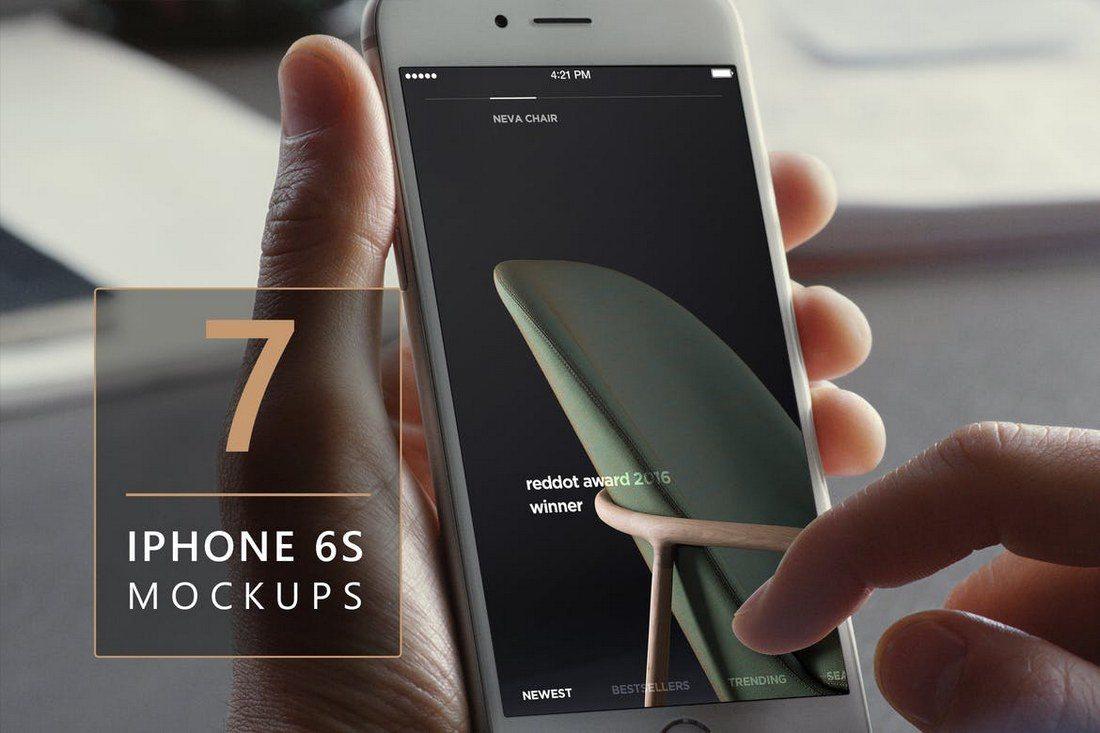 7-iPhone-6s-Photorealistic-Mockups 100+ iPhone PSD & Vector Mockups design tips