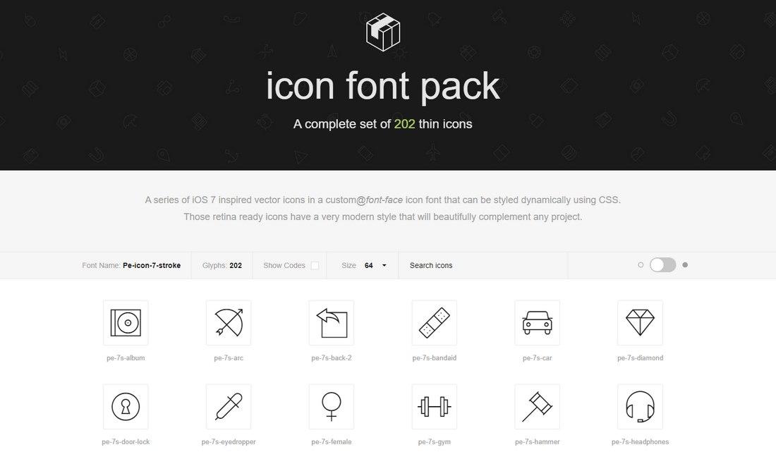 7-stroke-icon-font